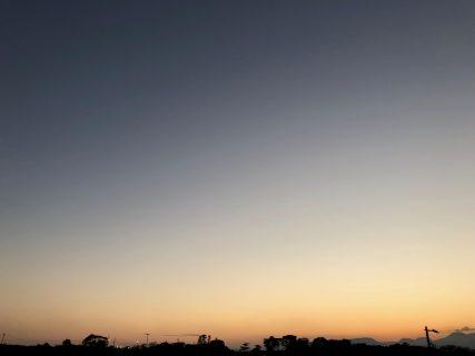 大磯の社窓から(夕日)20190108