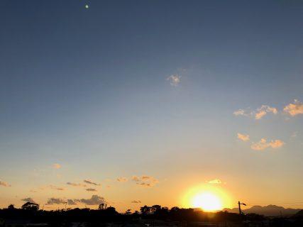 大磯の社窓から(夕日)初日の入り20190101