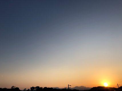 大磯の社窓から(夕日)20190312